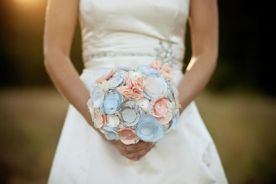 wedding flower alternatives bridal bouquets from Etsy fabric pastels