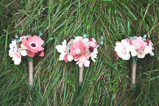 wedding flower alternatives bridal bouquets from Etsy FELT