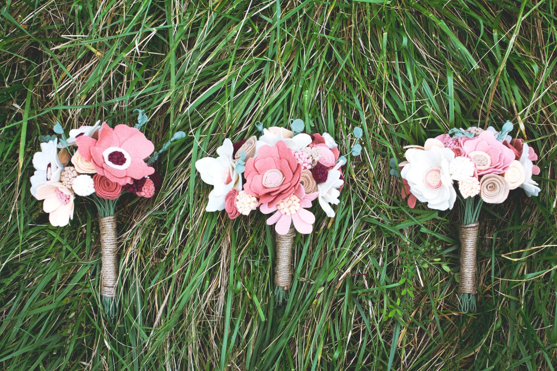 Wedding Flower Alternatives Bridal Bouquets From Etsy Felt