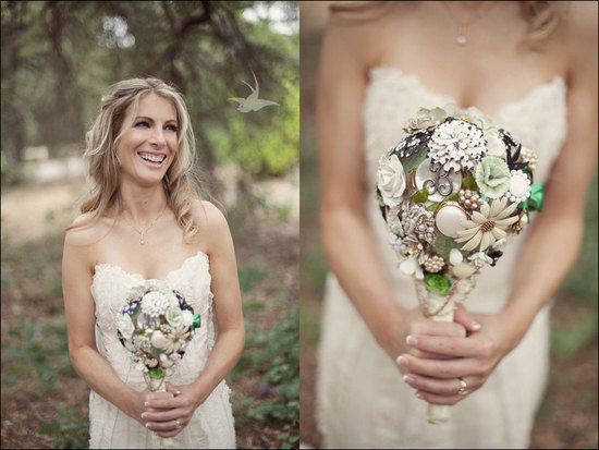 wedding flower alternatives bridal bouquets from Etsy nature inspired