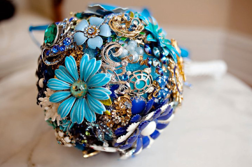 wedding flower alternatives bridal bouquets from Etsy something blue 2