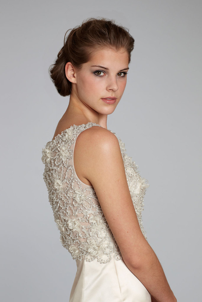 photo of fall 2012 wedding dress Lazaro bridal gowns 3263 detail