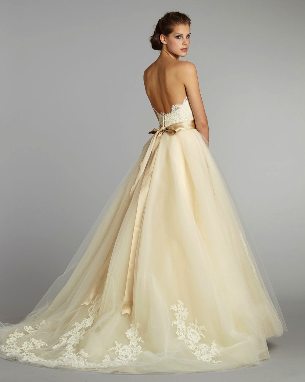 Fall 2012 wedding dress lazaro bridal gowns 3251 b for Dresses for a fall wedding