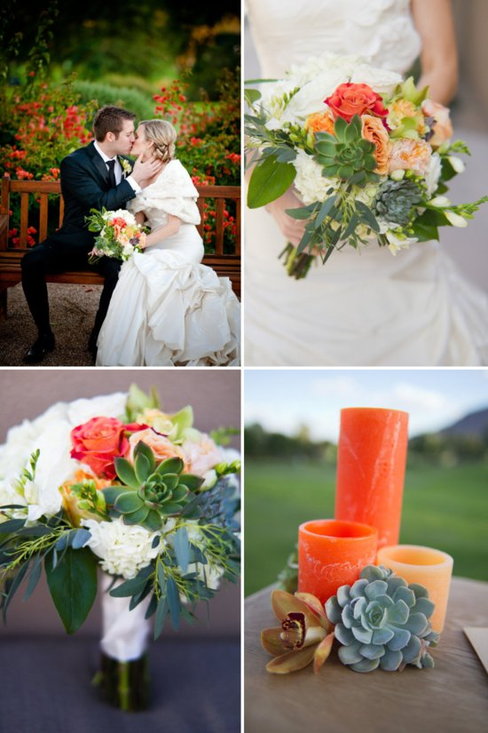 citrus and succulents wedding inspiration