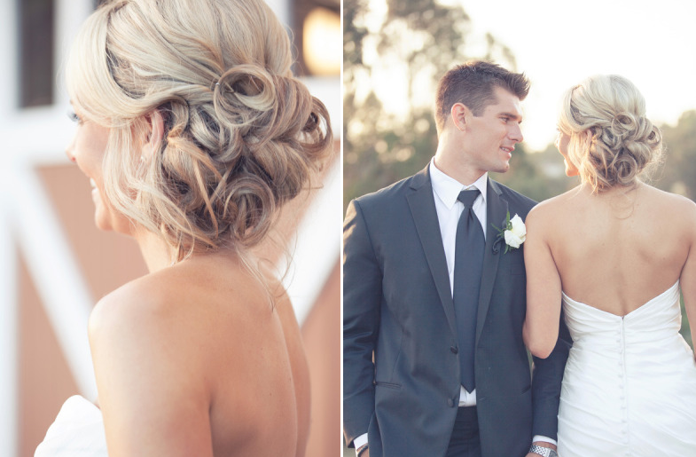 wedding updos we love summer 2012 romantic sideswept. Black Bedroom Furniture Sets. Home Design Ideas