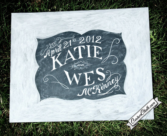 personalized wedding details ceremony reception signs on Etsy custom chalkboard sign