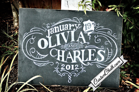 personalized wedding details ceremony reception signs on Etsy chalkboard chic 2