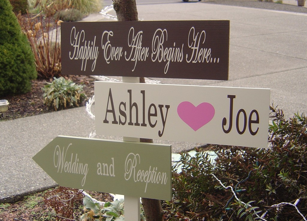 Personalized Wedding Details Ceremony Reception Signs On