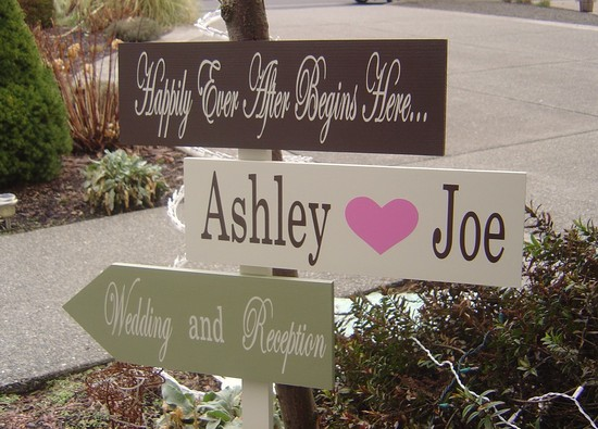 personalized wedding details ceremony reception signs on Etsy chocolate sage pink ivory