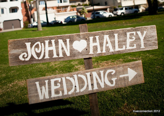 handmade wedding signs from Etsy personalized wedding ideas rustic wood 2