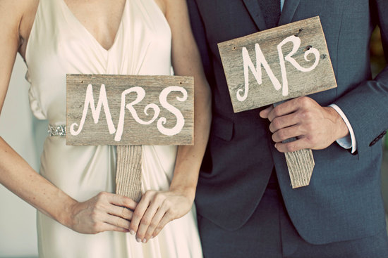 handmade wedding signs from Etsy personalized wedding ideas Mr Mrs rustic