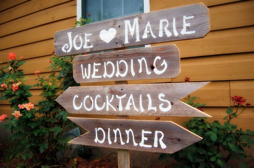 handmade wedding signs from Etsy personalized wedding ideas signage