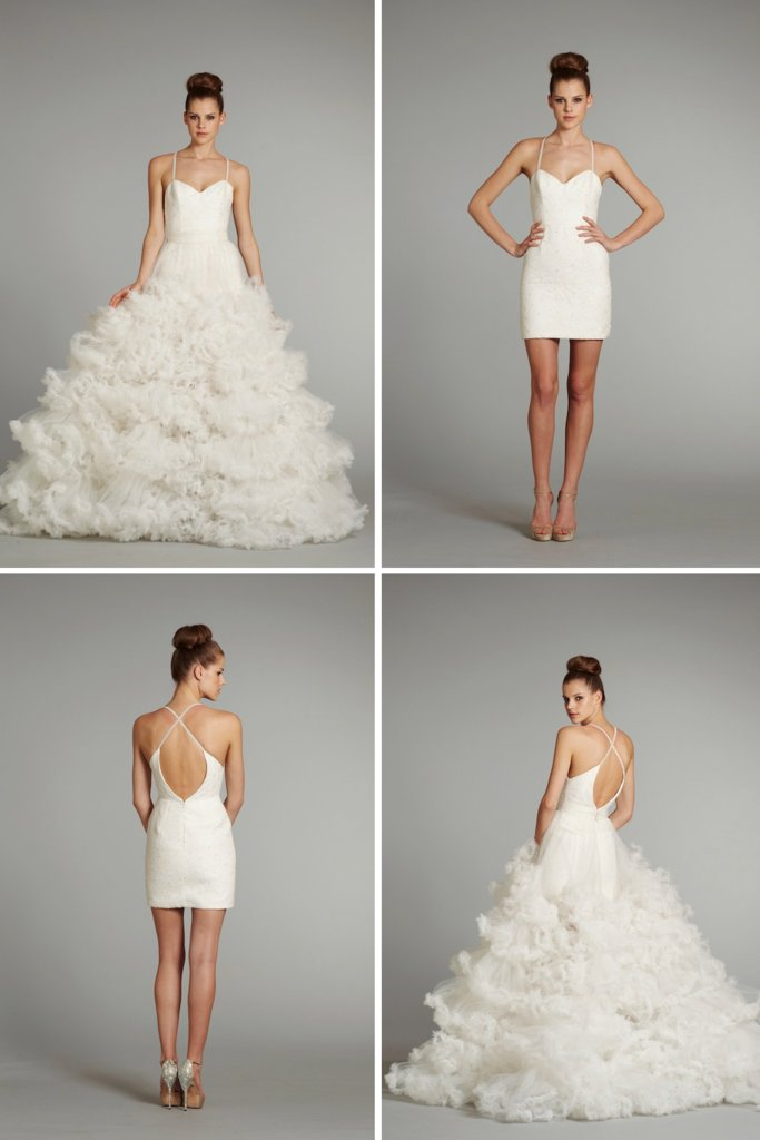 photo of amazing wedding dresses of 2013 Hayley Paige convertible wedding dress 2