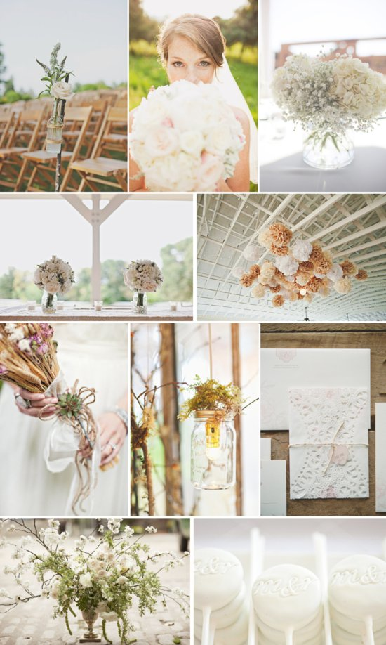 neutral wedding color inspiration tan cream butterscotch