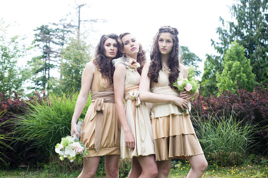 convertible bridesmaids dresses bridal party style inspiration from Etsy neutrals