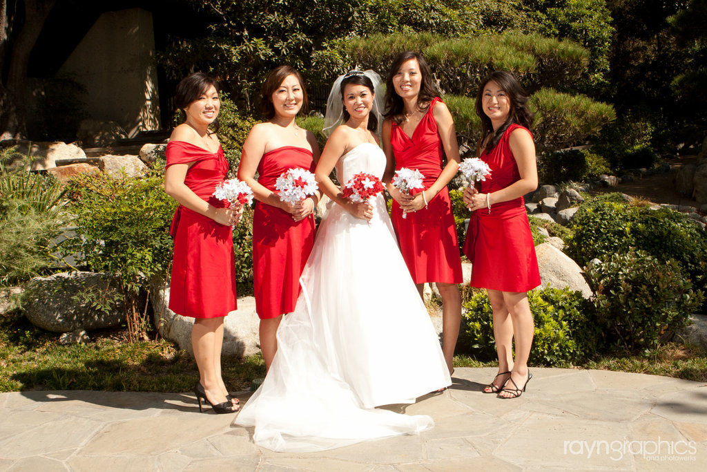 Convertible Bridesmaids Dresses Bridal Party Style Inspiration From Etsy Cherry Red
