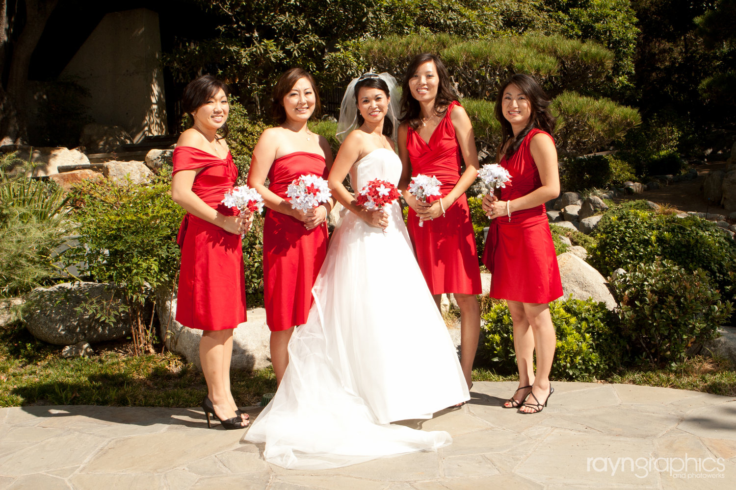 red wedding party dresses
