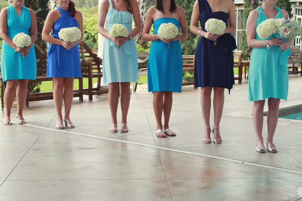 Convertible Bridesmaids Dresses Bridal Party Style Inspiration From Etsy Blues Aqua