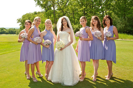 convertible bridesmaids dresses bridal party style inspiration from Etsy light lilac