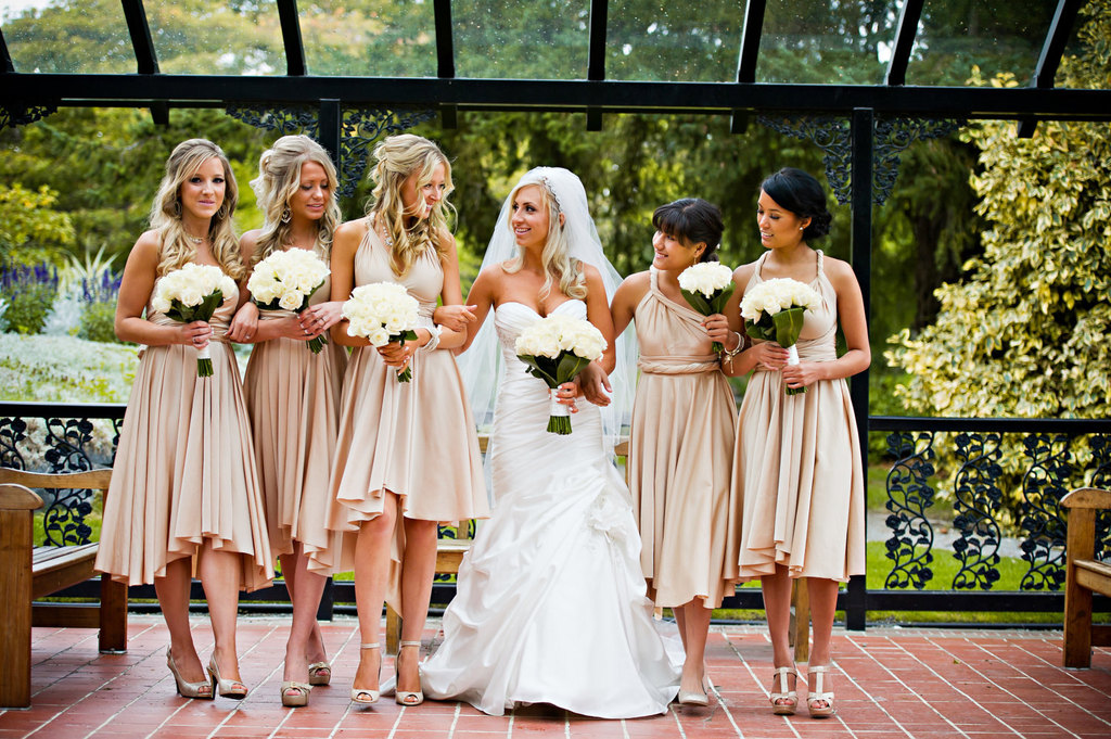 Convertible Bridesmaids Dresses Bridal Party Style Inspiration From