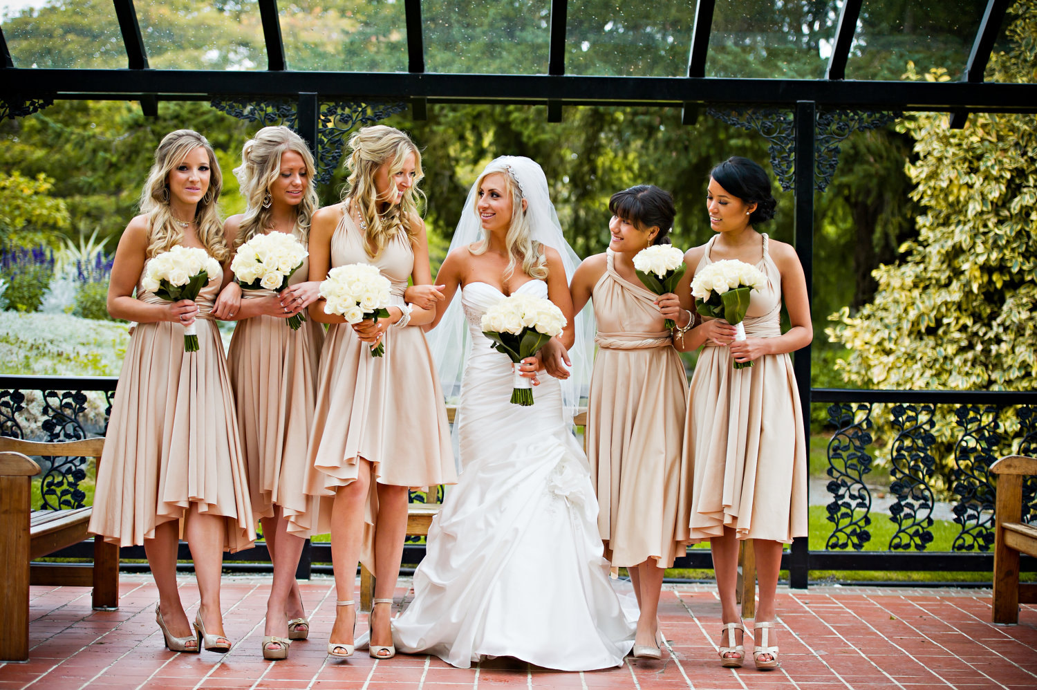 Convertible bridesmaids dresses bridal party style for Dress for a wedding party
