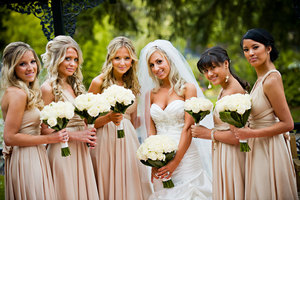 Bride With Bridesmaids on OneWed