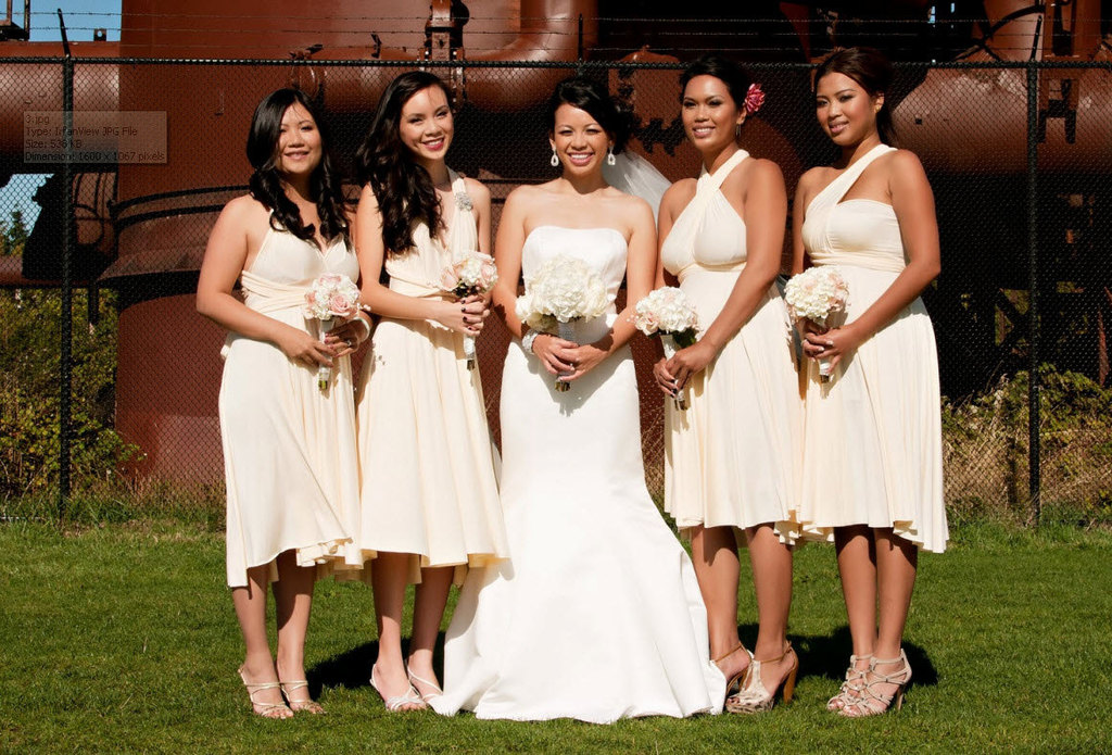 convertible bridesmaids dresses bridal party style inspiration from Etsy all white