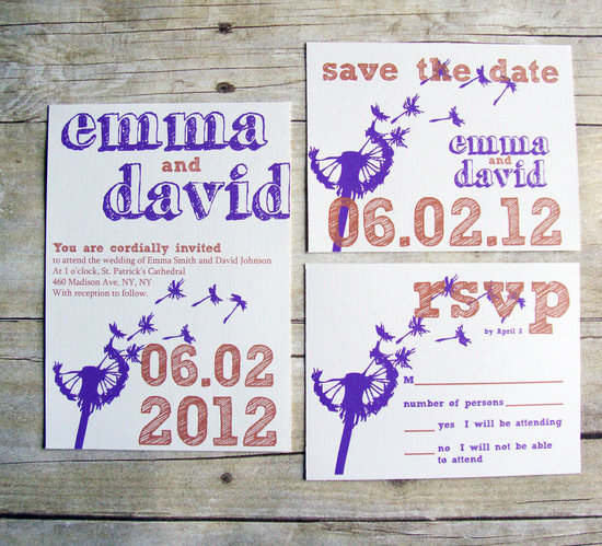 handmade wedding invitations save the dates Etsy weddings