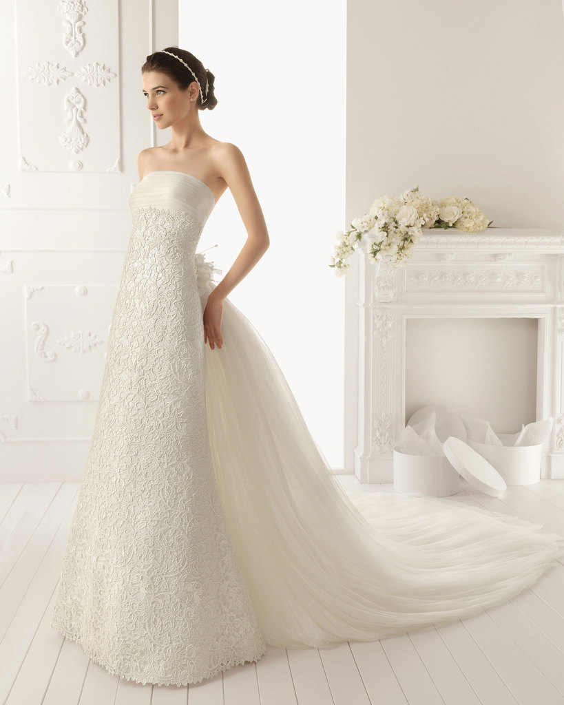 photo of 2013 wedding dress by Aire Barcelona bridal gowns Rama