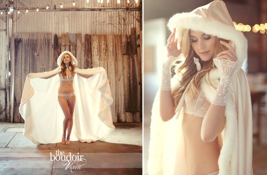 bridal lingerie from Etsy for the wedding night lace fur robe