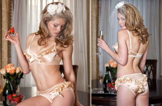 gorgeous handmade bridal lingerie for the wedding night from Etsy 3