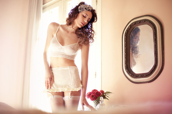 bridal boudoir wedding lingerie from Etsy lace vintage inspired