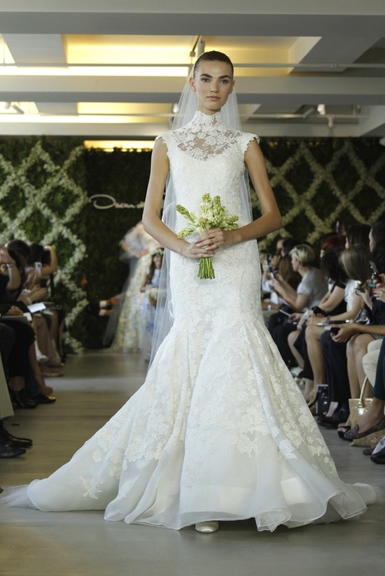 wedding dresses for traditional church ceremonies Oscar de la Renta 2013 bridal 3