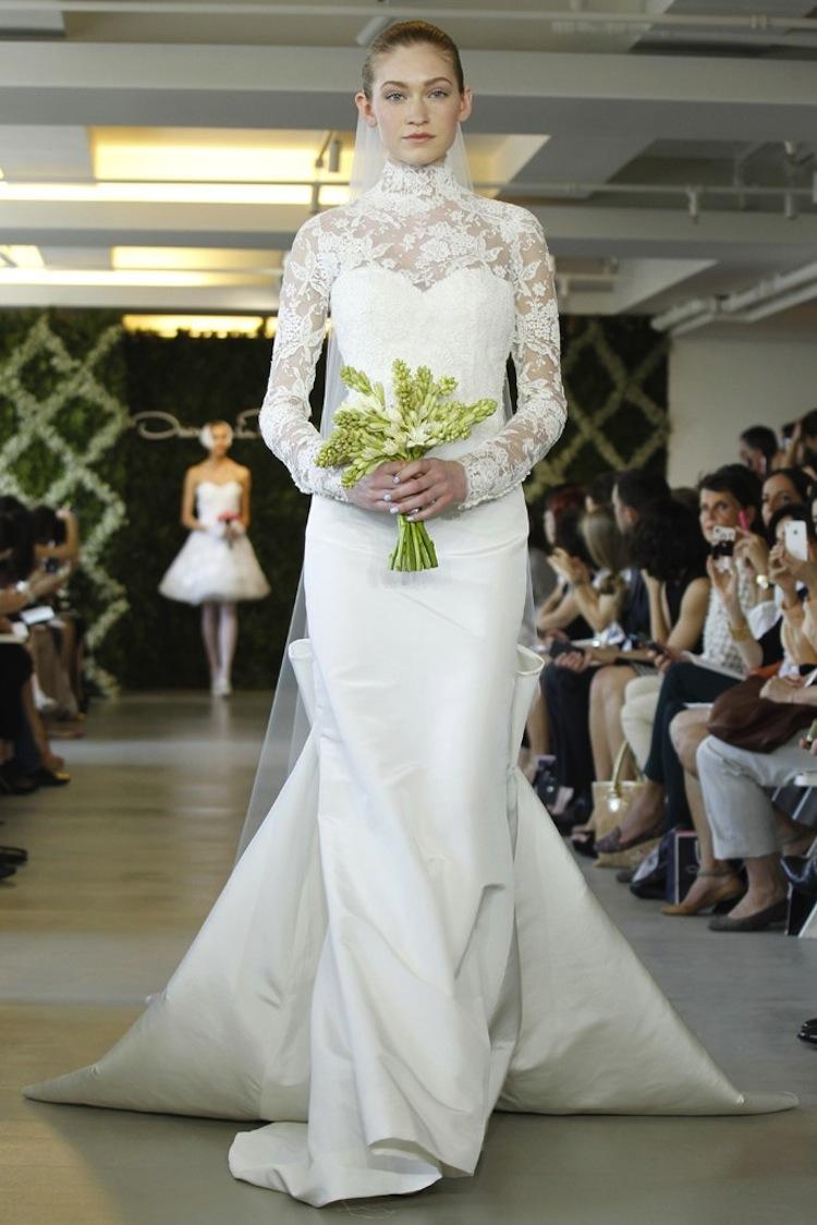 wedding dresses for traditional church ceremonies oscar de la renta 2013 bridal 1. Black Bedroom Furniture Sets. Home Design Ideas