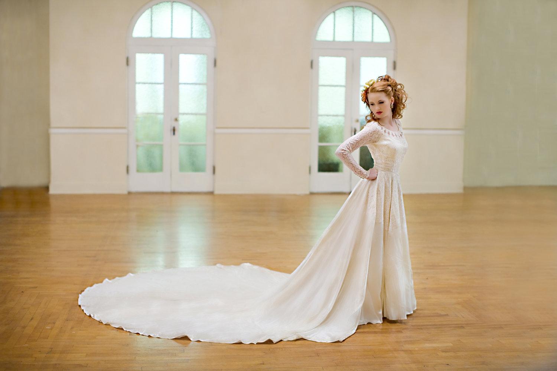 Classic wedding dress for church ceremony etsy handmade for Dresses for church wedding