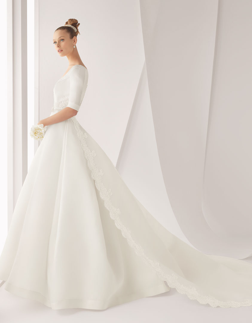 classic wedding dress for church ceremony rosa clara