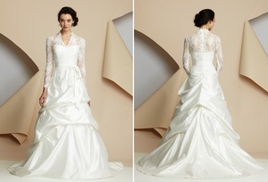 photo of 15 wedding dresses perfect for a classic cathedral wedding 4 alyne lace sleeves