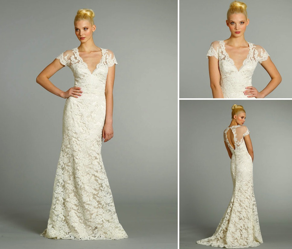 15-wedding-dresses-perfect-for-a-classic-cathedral-wedding-2-jim-hjelm-fall-2012-lace-v-neck.full