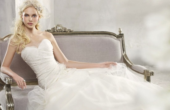 fall 2012 wedding dress alvina valenta bridal gown sweetheart lace tulle