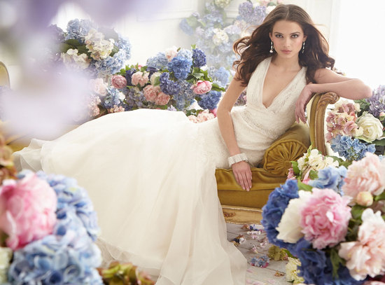 fall 2012 wedding dress jim hjelm bridal gowns v neck a line