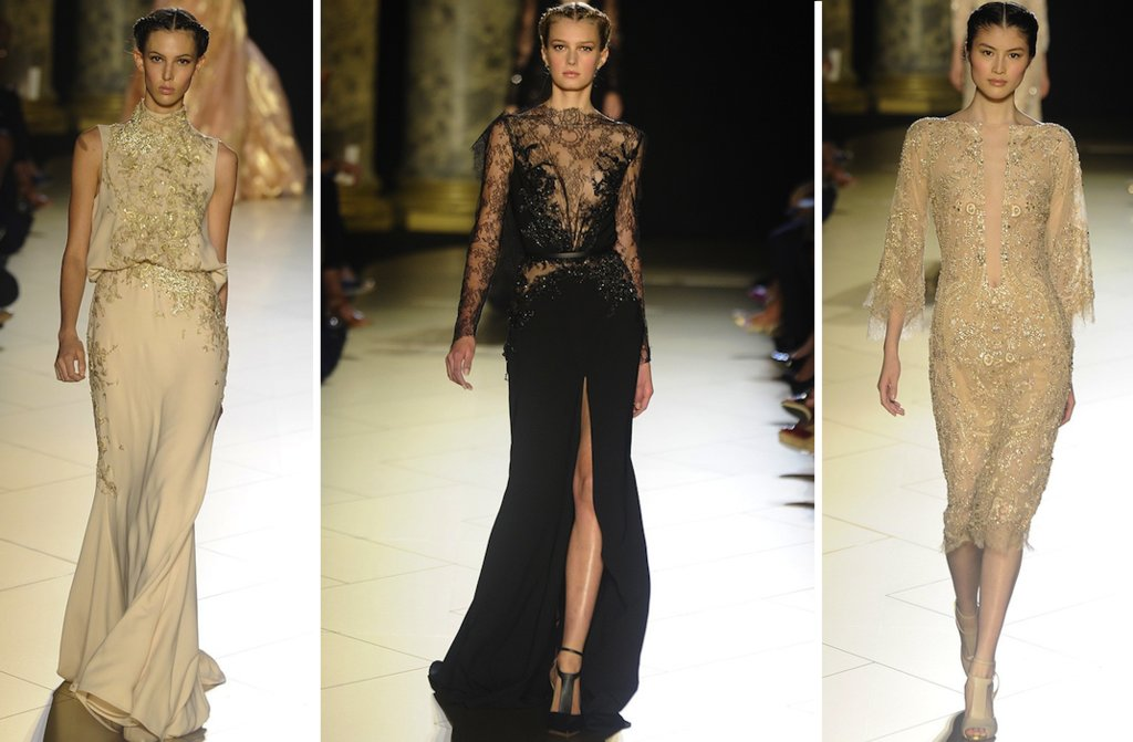 Runway-to-white-aisle-wedding-dress-inspiration-elie-saab-couture-fall-2012-beige-black-lace.full