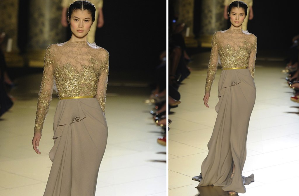 runway to white aisle wedding dress inspiration elie saab couture fall 2012 6