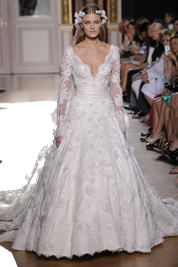 Runway-to-white-aisle-wedding-dress-inspiration-fall-2012-zuhair-murad-embellished-lace-with-sleeves.full