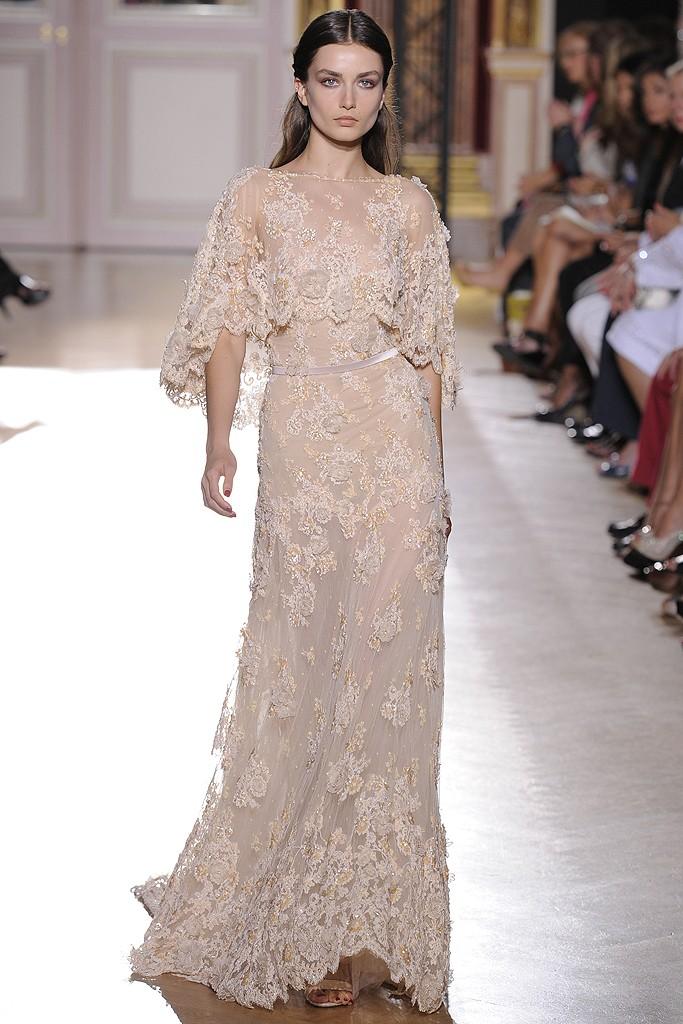 Zuhair Murad Lace Wedding Gowns : Wedding dress inspiration fall zuhair murad beige lace onewed
