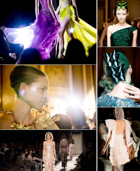 2012 couture wedding style inspiration runway to white aisle Versace Chanel