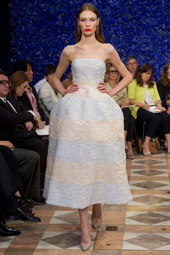 runway to white aisle wedding dress bridesmaid dress inspiration Christian Dior couture LWD 2