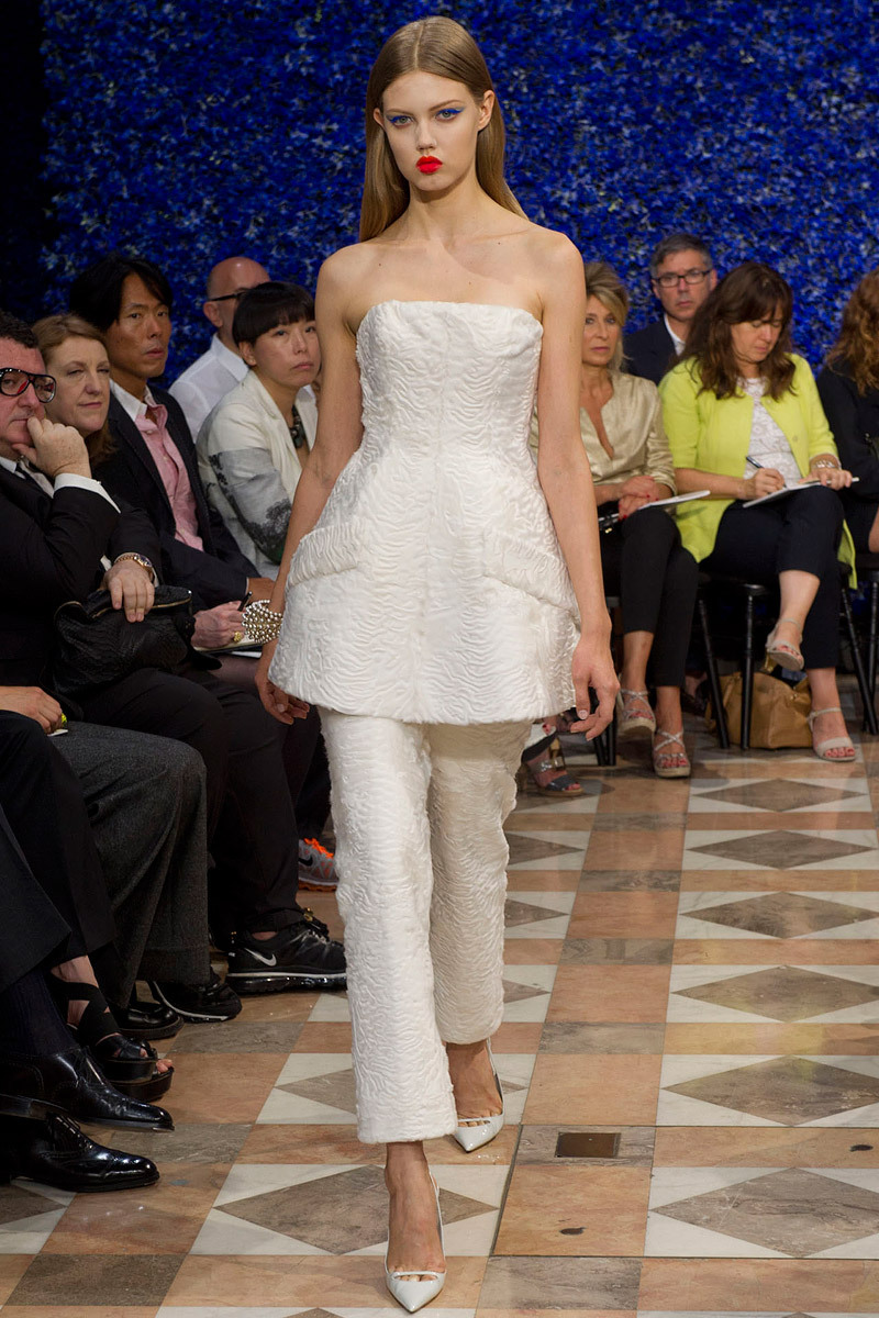 Runway-to-white-aisle-wedding-dress-bridesmaid-dress-inspiration-christian-dior-ivory-bridal-suit.full