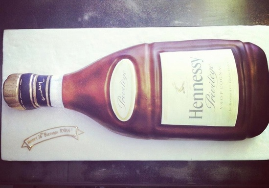 unique grooms cakes hennessy themed