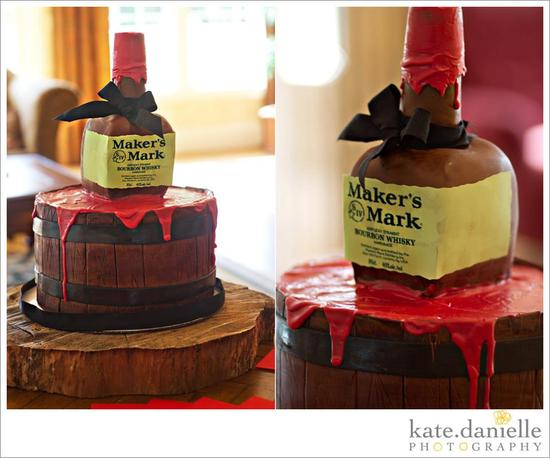 makers mark grooms cake