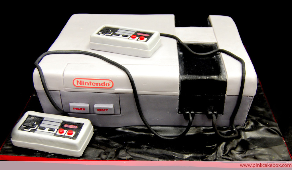 fun wedding cake ideas grooms cake Nintendo